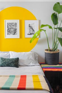 Home Remodel Interior This colorful Chicago home is an eclectic jungle thanks to 90 houseplants. Chicago, Bedroom Colors, Bedroom Decor, Quirky Bedroom, Bedroom Inspo, The Design Files, Home Decor Accessories, Cheap Home Decor, Houseplants