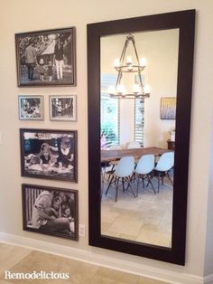 Big Prints for a Big Wall - Large Scale Family Photo Collage With a Mirror