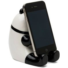 Miya Company Panda Phone Stand Piggy Bank ($20) ❤ liked on Polyvore featuring home, home decor, small item storage, miya company, panda coin bank, panda piggy bank, phone stand y telephone stand