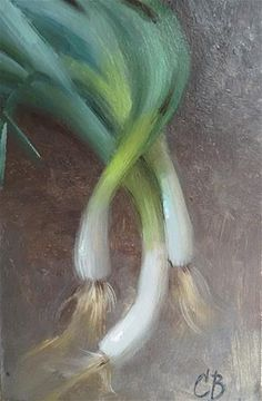 "Daily Paintworks - ""Onion Study"" - Original Fine Art for Sale - © Catherine Bobkoski"