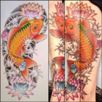 40 Best Water Lily And Koi Tattoo Images Lotus Flower Lilies Lily