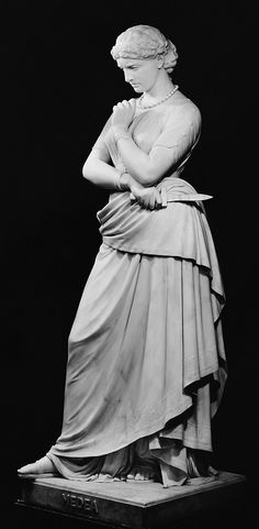 Medea, by William Wetmore Story, at the Met  - In Greek mythology, Medea was the daughter of King Aeëtes of Colchis, niece of Circe, granddaughter of the sun god Helios, and later wife to the hero Jason, with whom she had two children, Mermeros and Pheres. In Euripides's play Medea, Jason leaves Medea when Creon, king of Corinth, offers him his daughter, Glauce.  The play tells about how Medea avenges her husband's betrayal.