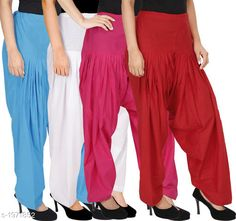 Ethnic Bottomwear - Patiala Pants Women's Solid Cotton Patiala Pant ( Pack of 4 ) Fabric: Cotton Waist Size:  M- 30 in, L- 32 in, XL- 34 in , XXL - 36 in Length: Up to 39 in Type: Stitched Description: It has 4 Pieces Of Patiala Pant Pattern: Solid Sizes Available: Free Size, S, M, L, XL, XXL, XXXL, 4XL *Proof of Safe Delivery! Click to know on Safety Standards of Delivery Partners- https://ltl.sh/y_nZrAV3  Catalog Rating: ★4.2 (5909)  Catalog Name: Eva Women's Solid Cotton Patiala Pants Combo Vol 17 CatalogID_260422 C74-SC1018 Code: 984-1971852-