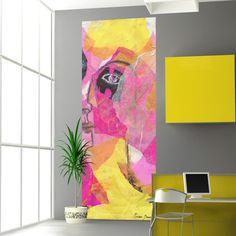 GoBig Yellow Lady L | Stickers murali, Adesivi decorativi, Wall Stickers