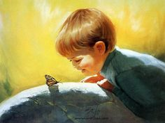 Fine Art and You: Beautiful Childhood Paintings by Donald Zolan Artists For Kids, Art For Kids, Art Children, Child Art, Anime Comics, Art Themes, Painting For Kids, Paintings For Sale, Oil Paintings