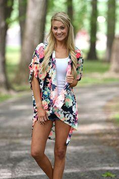Carry On Kimono ~ Tropical – The Pulse Boutique