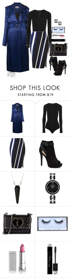 """""""Ladylike"""" by uniquely-flawed ❤ liked on Polyvore featuring Thierry Mugler, Theory, Miss Selfridge, Apt. 9, Alex and Ani, Fendi, Yves Saint Laurent, Huda Beauty, Lipstick Queen and Christian Dior"""