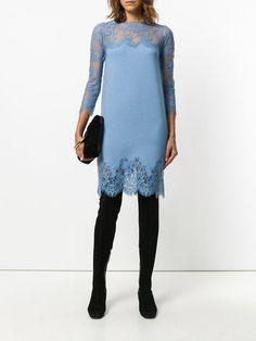 Shop Ermanno Scervino lace panel dress