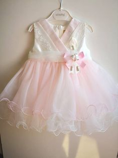 Baby Girl Princess Dress, First Birthday Dress, Birthday Costumes, Birthday Dress, Children Party Cl Baby Pink Dresses, Girls Dresses, Flower Girl Dresses, Dress Girl, Birthday Gifts For Girls, Baby Birthday, Birthday Ideas, Baptism Dress, Christening Gowns