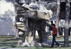 """Access a high-quality version of this photo--the """"Big Mother"""" sculpture in 1978 -- at our digital repository: purl.fcla.edu/ncf/wcslides or by clicking the image #NCF #slides"""