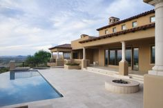 Infinity pool backyard of a Knipp Luxury home on Moon Mountain in AZ