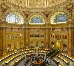 La Biblioteca del Congreso de EE.UU. (Library of Congress). Situada en Washington y distribuida en tres edificios (el Edificio Thomas Jefferson, el Edificio John Adams, y el Edificio James Madison), es una de las mayores bibliotecas del mundo, con más de 138 millones de documentos.