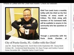 PUNTA GORDA,POLICE,TOM LEWIS CANCELED THE MEETING BECAUSE COP WATCH SHOW...