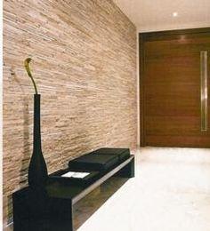 valorização da parede com uso de pedra