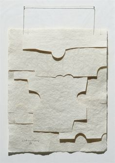"""Eduardo Chillida """"Boundaries are actually the main factor in space, just as the present, another boundary, is the main factor in time"""". Modern Art, Contemporary Art, Collagraph, Art Google, Graphic, Oeuvre D'art, Collage Art, Sculpture Art, Paper Art"""