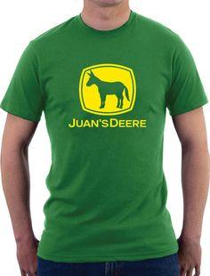 Juan' Deer Funny Parody Men's Humor Mexican Spanish Hispanic T Shirt tee top #Gildan #BasicTee