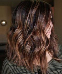 60 Hairstyles Featuring Dark Brown Hair with Highlights Chocolate Copper Balayage for Black Hair Brown Hair Balayage, Hair Color Balayage, Caramel Balayage, Balayage Ombre, Copper Balayage Brunette, Babylights Brunette, Honey Balayage, Copper Hair With Highlights, Color Highlights