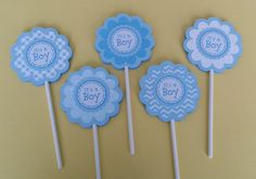 Hey, I found this really awesome Etsy listing at https://www.etsy.com/listing/197063993/baby-boy-cupcake-toppers-its-a-boy