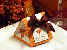 AUTUMN FALL wedding origami favor boxes MAPLE LEAVES bridal shower | LMK-Gifts - Wedding on ArtFire