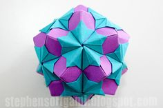 Stephen's Origami: Tomoko Fuse Floral Origami Globes