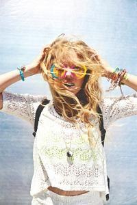 Boho chic crochet top, modern hippie style stacked jewelry, gypsy jewelry. For the BEST Bohemian fashion trends for 2014 FOLLOW http://www.pinterest.com/happygolicky/the-best-boho-chic-fashion-bohemian-jewelry-gypsy-/