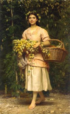Charles Edward Perugini.The Hop Picker