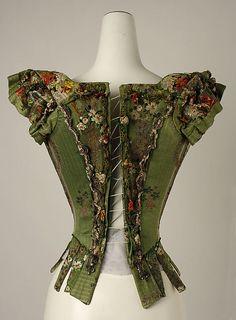 Ren Faire?  Rear view Bodice, 18th century, European Medium: silk, metal thread (c) The Metropolitan Museum of Art