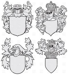 Coat Of Arms Template Lion