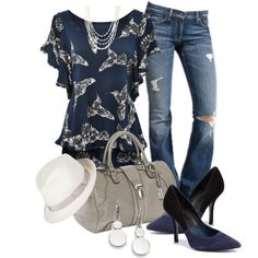 Hummingbird Blue, created by christina-young on Polyvore
