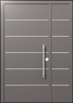 The one and a half winged Scala Door upgrades the Porto door as it adds stainless steel stripes, providing the door with strained prestige. The urban style sends a clean, calm and symmetric style with an up-to-date minimalistic concept Entrance Doors, Front Doors, Japanese Door, Half Doors, Classic Doors, Modern Door, Security Door, Steel Doors, Exterior Doors