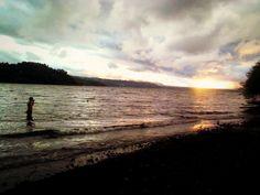 Southern Lake Villarica Lake Sunset