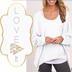 ✨NWOT High/Low T-Shirt Large Scoop neck loose long sleeve T-shirt - flattering and the perfect pairing with leggings! One Large available. Cotton blend. Tops Tees - Long Sleeve