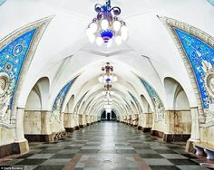 Opulent Propaganda of the Moscow Metro System. Taganskaya Metro Station, Moscow, Russia, By David Burdeny David Burdeny, U Bahn Station, Moscow Metro, Russian Architecture, Monumental Architecture, Future Photos, Metro Station, Palace, Places To Visit
