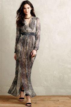Pitone Silk Maxi Dress - anthropologie.com