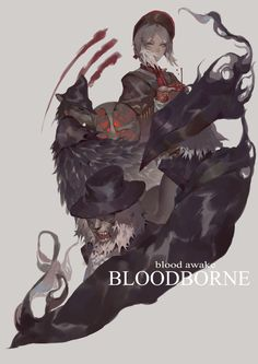 Dark Blood, Old Blood, Dark Fantasy, Fantasy Art, Bloodborne Art, Dark Souls Art, Arte Obscura, Warrior Girl, Sad Art