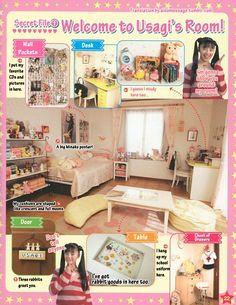 I love Usagi's room! From Pretty Guardian Sailor Moon...