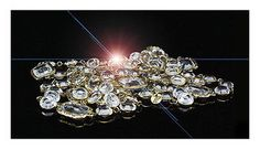 Chanel Sautoir Chicklet Clear Crystal Vintage Necklace 64 Longest of All