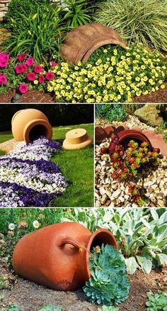 MENTŐÖTLET - kreáció, újrahasznosítás: Virágos kert Front Yard Garden Design, Rock Garden Design, Garden Yard Ideas, Diy Garden, Garden Landscape Design, Garden Projects, Garden Art, Metal Garden Edging, Garden Sheds Uk