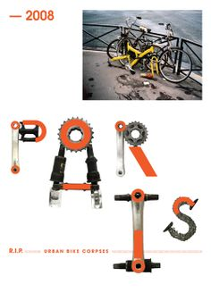 Geek Art Gallery: Typography: Bike to life