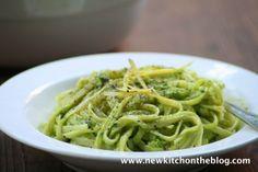New Kitch On The Blog: Es grünt: Pasta mit Avocadocreme