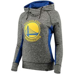 Women's Golden State Warriors Fanatics Branded Heathered Charcoal/Royal Static Pullover Hoodie