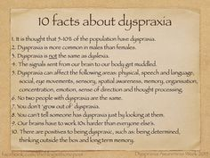It's dyspraxia awareness this week (11th-17th October)! As those of you who read my blogs will know, raising awareness of dyspraxia isn't just limited to one week for me - it's dyspraxia awareness ...