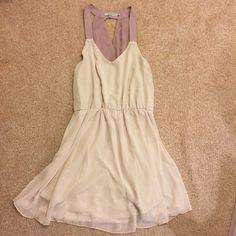 Chiffon dress Super cute chiffon dress! Key hole in the back. Worn one time! Dresses