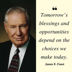 """Remember, """"Tomorrow's blessings and opportunities depend on the choices we make today,"""" and as a point in time, today will never happen again… so enjoy every moment of 'the present,' for your life today is not only a gift, but part of our eternal journey! How will what you do today make a difference? #ChooseWisely"""