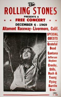 The Rolling Stones - 1969, Altamont Raceway, Livermore, Calif.