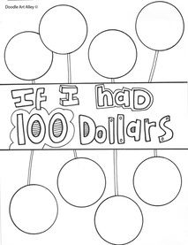 100th Day of School - Coloring Pages from Classroom Doodles