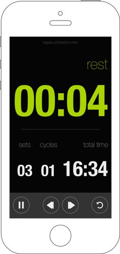 Tabata Stopwatch Pro = Beautiful, comprehensive, simple and efficient. Tabata Stopwatch Pro is a complete interval timer for people who are serious about their workouts. Use your mobile devices to augment and stay on track with all your workouts. You'll love it. Tabata, Physical Therapy, Ios App, At Home Workouts, Physics, Track, Simple, Beautiful, Runway