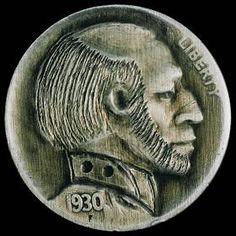 Mike Pezak Bald Man, Hobo Nickel, Statues, Buffalo, Classic Style, Cactus, Art Pieces, Coins, Auction