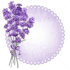 Buy Lavender by mari_pazhyna on GraphicRiver. Floral vintage background with fragrant lavender bouquet. Vector illustration isolated on white. Flower Background Wallpaper, Background Vintage, Flower Backgrounds, Wallpaper Backgrounds, Text Background, Vintage Backgrounds, Frame Floral, Flower Frame, Lavender Bouquet