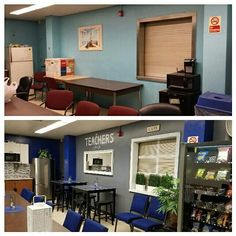 As a parting gift, Retiring Teacher and her family transform teachers' lounge at a NYC Bronx School. Note: ALL ITEMS ADDE.